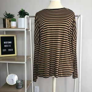 Massimo Dutti size M brown and black top